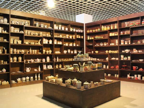 our ceramic exhibition room