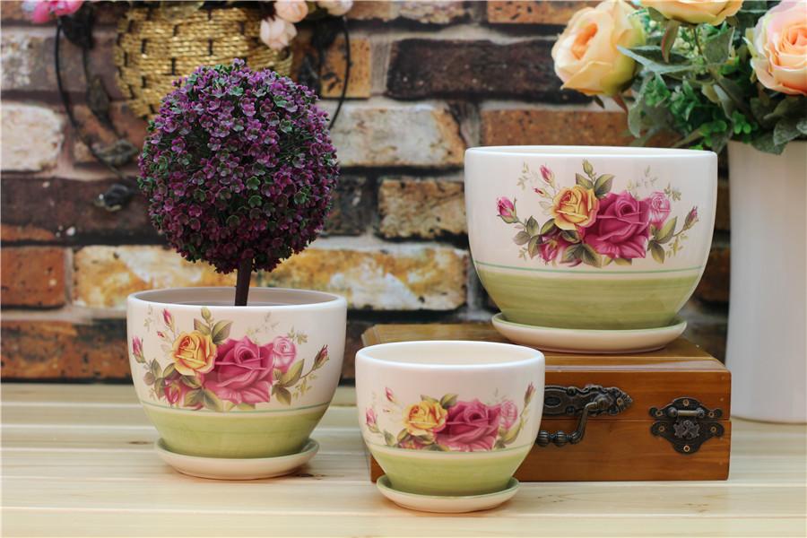 Brighten Your Day ceramic flower pot