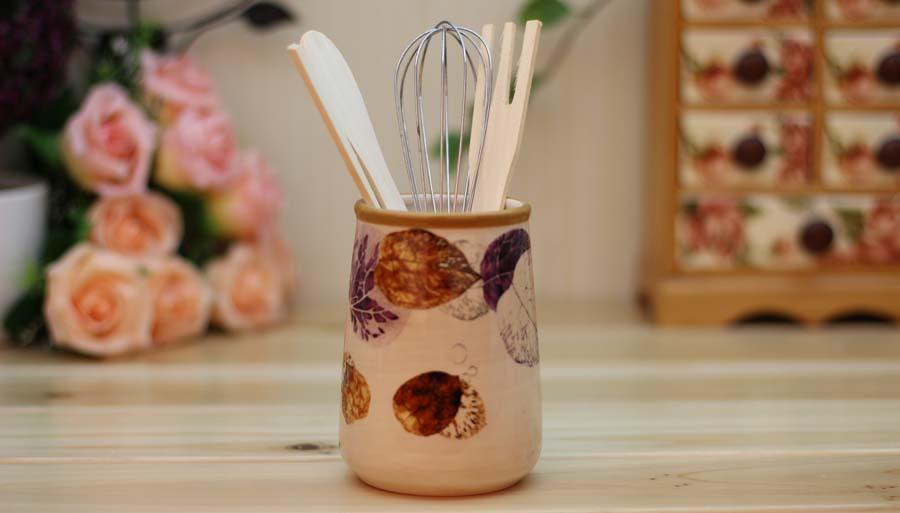 Ceramic utensil holders