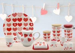 Valentine's Day ceramic kitchenware set