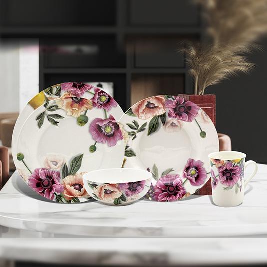 New bone China tableware set 5 pcs