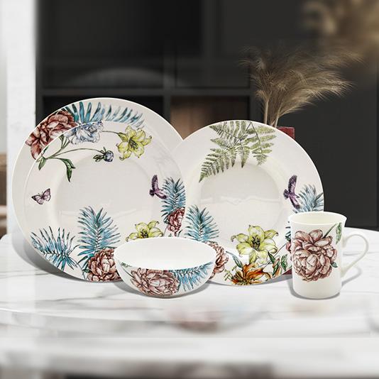 Ceramic kitchenware dolomte dinnerware set 5 pcs