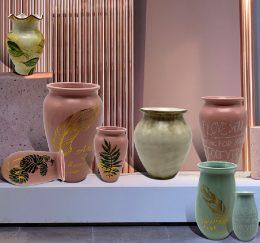 Ceramic dolomite set vase set