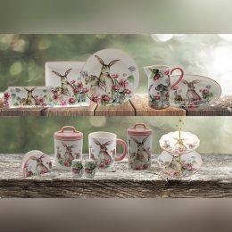 Rabbit set ceramic tableware set
